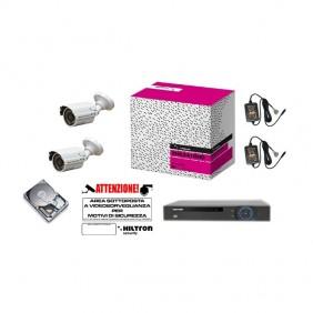 Kit Hiltron Videosorveglianza Dvr 8Ch h264 hard disk 1TB THK28H264