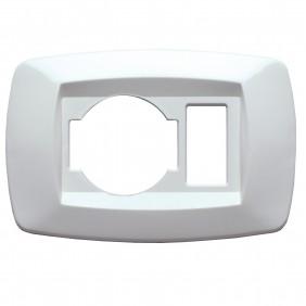 Master modì white plate 1 hole + unel schuko...