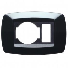 Master modì black plate 1 photo + unel schuko...