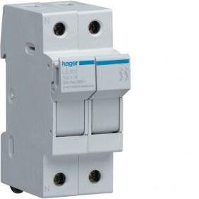 Portafusibile Hager 2P 32A 10,3X38 2 moduli LS502
