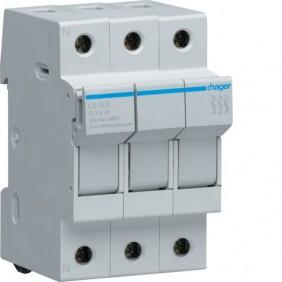 Portafusibile Hager 3P 32A 10,3X38 3 moduli LS503