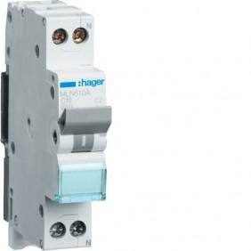 Interruttore Magnetotermico Hager 1P+N 16A 6K A C 1 modulo MLN516A