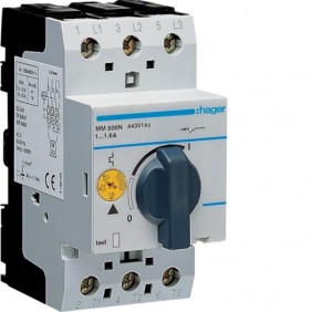 Salvamotore Hager 1-1,6A 2,5 moduli 3 poli MM506N