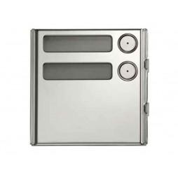 URMET Modulo Sinthesi Steel 2 pulsante in alluminio anodizzato 1158/12