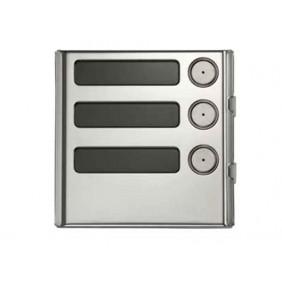 URMET Modulo Sinthesi Steel 3 pulsante in alluminio anodizzato 1158/13