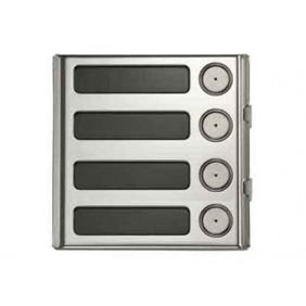 URMET Modulo Sinthesi Steel 4 pulsante in alluminio anodizzato 1158/14