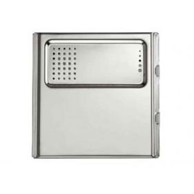 URMET Modulo Sinthesi Steel senza pulsanti per posto esterno in alluminio anodizzato 1158/20