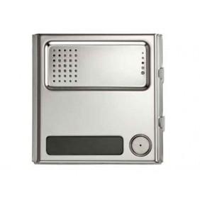 URMET Modulo Sinthesi Steel 1 pulsante e posto esterno in alluminio anodizzato 1158/21