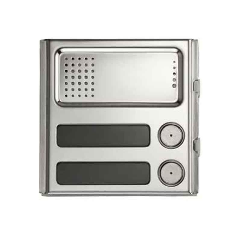 URMET Modulo Sinthesi Steel 2 pulsanti e posto esterno in alluminio anodizzato 1158/22