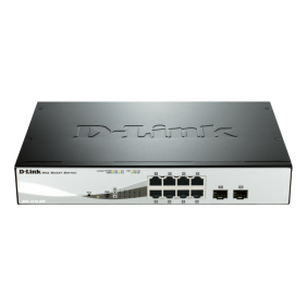 Switch Dlink 8 ports 10/100/1K+2SFP SMART 870 DGS-1210-08P