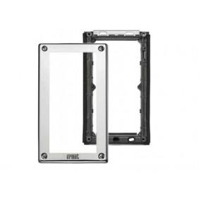 URMET Telaio porta moduli Steel con cornice per 2 moduli 1158/62