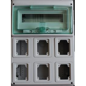 Framework Schneider industrial 12 modules, 6 OUTLETS, built-10366