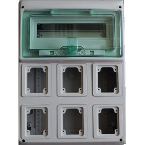 Quadro Schneider industriale 12 moduli per 6 PRESE incasso 10366
