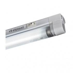 Reglette slim Beghelli T5 8W luce 3000k 35cm con interruttore 74007