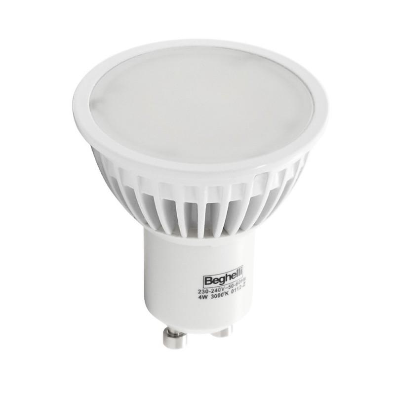 lampadina beghelli gu10 led 6w 6500k luce bianchissima 56047