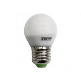 Lampadina Beghelli Sfera E27 6W 3000K Led luce calda 56076