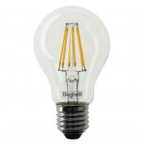 Lampadina Beghelli Goccia LED Zafiro E27 5W 2700K luce calda 56400