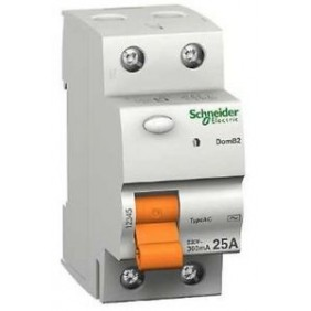 Interruttore Differenziale puro Schneider 2P 25A 30MA AC  DOMB22530C