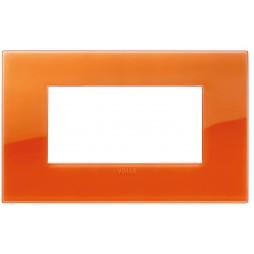 Placca Vimar Arke 4 Moduli Classic Reflex Orange 19654.63