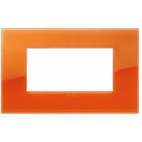 Placa De Vimar Arke 4 Módulos Clásico Slr Naranja 19654.63