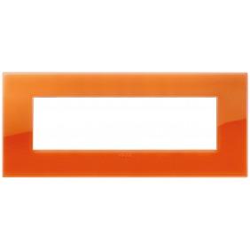 Placca Vimar Arke 7 Moduli Classic Reflex Orange 19657.63