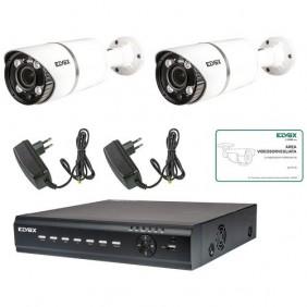 kit Videosorveglianza Elvox 8 canali 2 tel 2...