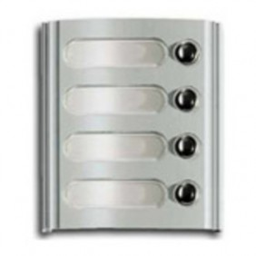 Plaque forms Elvox with 4 keys, grey in colour series number Plate 8000 8004