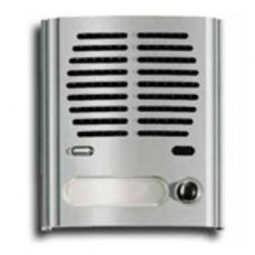 Plaque Forms Elvox module loudspeaking unit with 1 button, grey colour 8011
