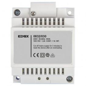 Trasformatore Elvox 15V 30W attacco Din 4 Moduli 0832/030