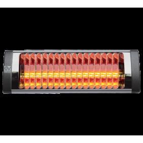 Stufa ad infrarossi Vortice THERMOLOGIKA SOLEIL PLUS 1500W nera 70065