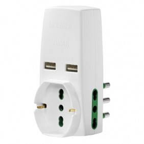 Triple adapter Vimar with 2 USB plugs and...