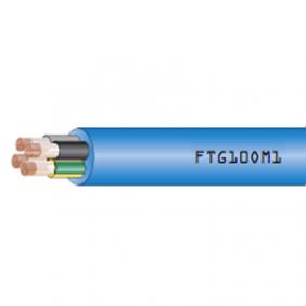 Cavo Resistente al Fuoco 5X10mmq 1 Metro con Giallo Verde RF31-22 FTG105G10