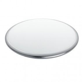Plafoniera Fan tonda in vetro a Led 24W 4K luce naturale I-DIVINA/PL40