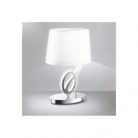 Lume Fan da tavolo 1XE14 colore cromo con paralume  I-EVOLUTION/L1