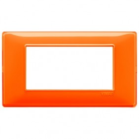 Plate Vimar Plana 4 modules Reflex Orange 14654.48