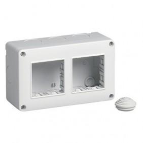Container Vimar Plana Eikon Arke wall mounted IP40 4 modules, 2+2 14812