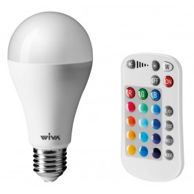 Lamp Wiva LED RGB Multicolor E27 10W drop 12100096