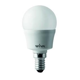 Lampada Wiva a LED E14 4W SFERA 3000K luce calda 12100220