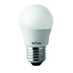 Lampada Wiva a LED E27 6W SFERA 6000K luce bianchissima 12100273
