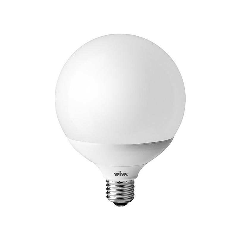 Lampada wiva a led e27 24w globo 3000k luce calda d120 for Lampadine al led luce calda