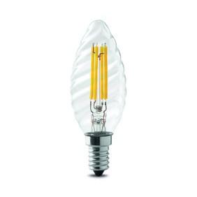 Lampada Wiva a LED E14 4W tortiglione 3000K luce calda  12100520