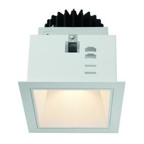 Faro Incasso Wiva quadrato Bianco a LED 15W WW luce calda  41100050