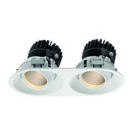 Faro Incasso Wiva Tondo Bianco a LED 15W 3000K luce calda  41100080