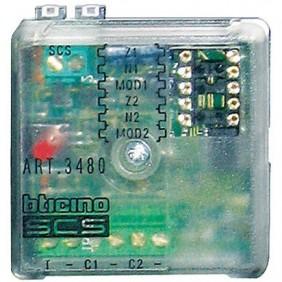 Modulo interfaccia Bticino per 2 linee contatti elettromagnetici NC/NA 3480