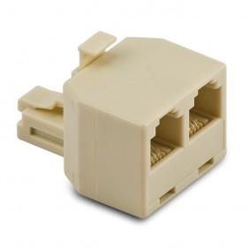 Spina Master telefonica con doppia presa plug 6-4 005588
