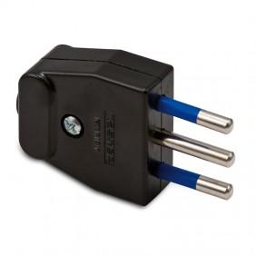 Plug Master 2x10A+T Black 05120