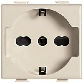 Presa elettrica schuko universale Bticino Magic TT avorio 10/16A A5440/16