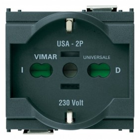 Presa Vimar Idea schuko universale 16A colore antracite 16210