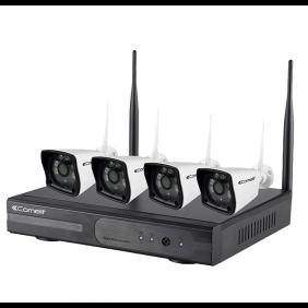 Kit Videosorveglianza Comelit Wi-fi con videoregistratore e telecamere WIKIT040A