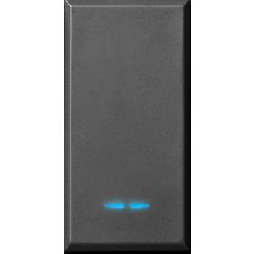 Deviatore Ave Tekla colore nero 1P 16AX illuminabile 445002